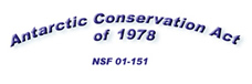 Antarctic Conservation Act of 1978